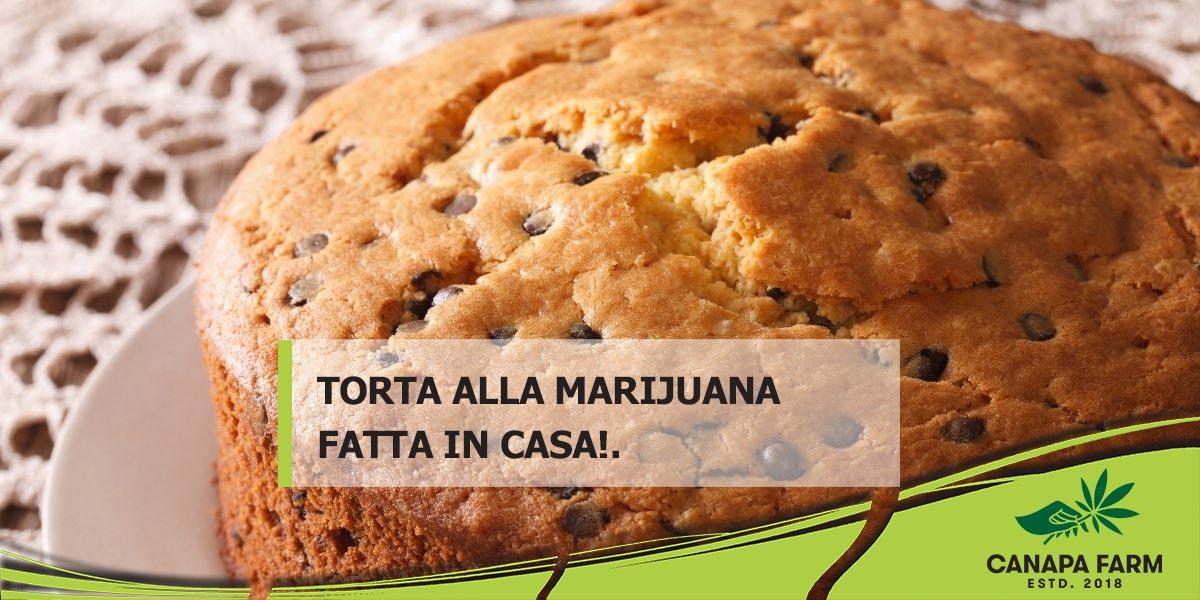 torta alla marijuana fatta in casa