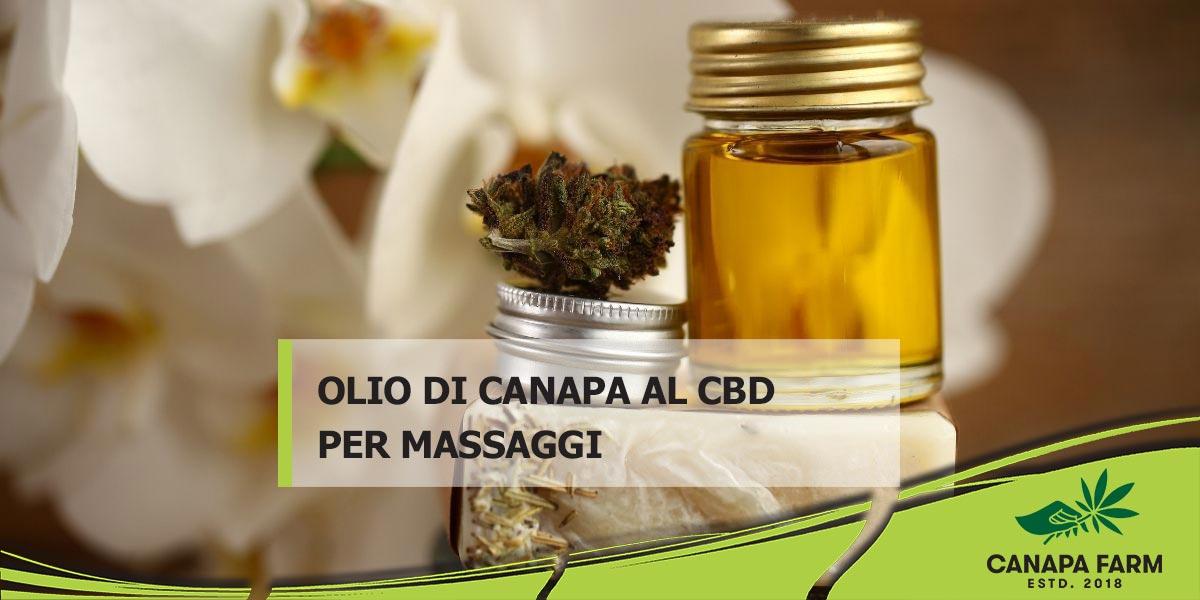 olio di canapa per massaggio