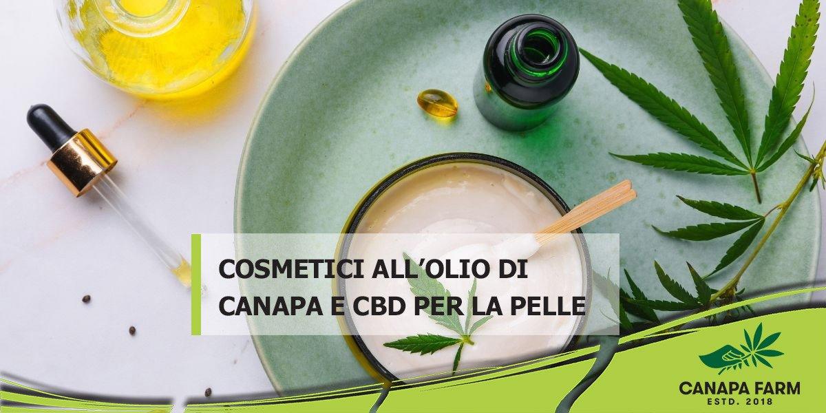 cosmetici canapa e cbd per la pelle